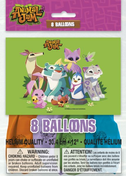 Animal Jam Latex Balloons (8)